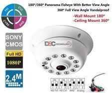 4-in-1 1080P 2.4MP HD 180/360 Degree Fisheye Lens IR Indoor Camera