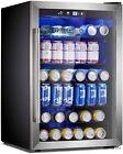 Beverage Refrigerator Cooler - 145 Can Mini Fridge Glass Door for Soda Beer