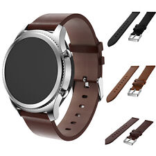 Luxury Leather Watch Strap Bracelet Band For Samsung Gear S3 Frontier/Classic ~~