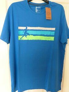 2 x Dare 2b Men's Short Sleeved T-Shirt Blue-Running Man Graphic SIZE 2X Large