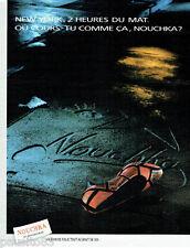 PUBLICITE ADVERTISING 115  1988  NOUCHKA  chaussures 10° anniversaire