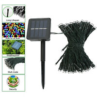 100 LED Outdoor Solar Powered String Light Garden Christmas Party Fairy Lamp US