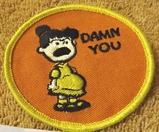 """VINTAGE PATCHES--LUCY'S PROBLEM--3""""--ORANGE TRIM--PATCH--NEW--FREE SHIPPING"""