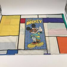 Vintage Disney Mickey Mouse Mondrian Pillow Cases Double Sided