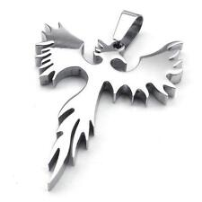 Mens Womens Stainless Steel Pendant Necklace Chain Phoenix Bird Firebird Biker