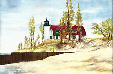 Point Betsy Lighthouse on Lake Michigan, Frankfort, MI Great Lakes 2