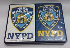 NYPD CITY OF NEW YORK POLICE DEPARTMENT DOUBLE PACK BLUE WHITE PLAYING CARDS