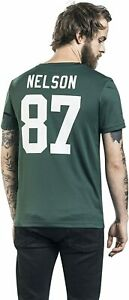 NEU🏈 Majestic Green Bay Packers XL NFL T-Shirt Trikot Nelson 87 Football Sport