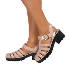 Sandalias y chanclas de mujer beige sintético, Talla 38