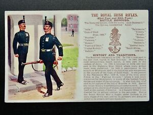 History & Tradition THE ROYAL IRISH RIFLES Postcard by Gale & Polden No.97b