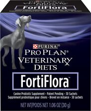 Purina Veterinary Diets FortiFlora Canine Nutritional Supplement, 30 Pouches NEW