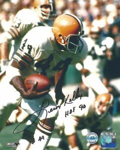 LEROY KELLY CLEVELAND BROWNS SIGNED 8x10 (8-9) (OSG COA)