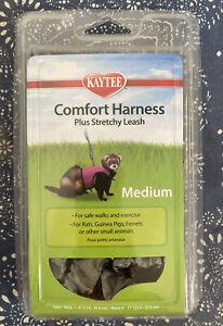 Kaytee Silver Comfort Harness Plus Stretchy Leash Size Medium Ferret Guinea Pig