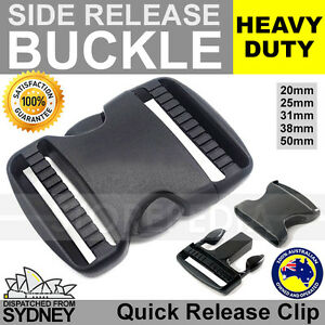 Side Quick Release BUCKLE Clip Cord Strap Fastener Webbing Plastic Backpack Bag