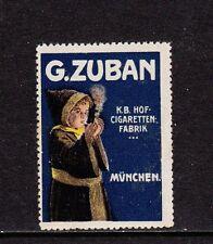 403241/ Reklamemarke - ZUBAN - K.B. Hof-Cigaretten-Fabrik - München - **