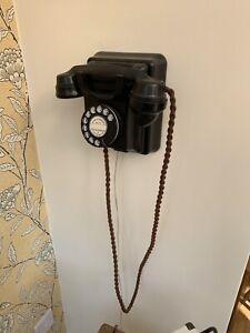 Vintage Bakelite Wall Black 1930's 1940's Telephone Working Order Rare