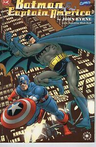 BATMAN & CAPTAIN AMERICA ELSEWORLDS GRAPHIC NOVEL    -  MARVEL  DC COMICS