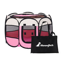 Pink Portable Lightweight Pop Up Dog Pet Kennel House Travel Cage Puppy Cat Pet