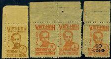 NORTH vietnam-1946 2D Marrone e 5D Rosso con successive 1956 50 Dong per 5D maggiorazione
