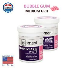 2 Jars Element Medium Grit Bubble Gum Prophy Paste Dental Prophylaxis 340g 12oz