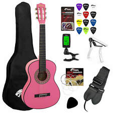 More details for tiger  3/4 size pink classical guitar package