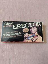 Pocket Toy erector set Vtg Metal 1973 Gilbert #33100 in Original Box