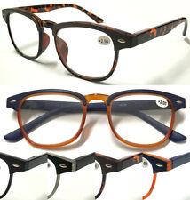 L867 Stylish Reading Glasses/Matte Brow Frame/Spring Hinges/Vintage Retro Design