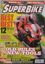 Super Bike magazine 02/2006 featuring Ducati, Aprilia, Suzuki