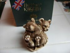 Harmony Kingdom Rough and Tumble Treasure Jest lion cubs Retired