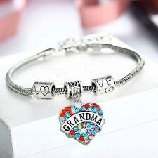 Beautiful Grandma Bracelet Heart Charm Snake Bracelet For Grandmother Nana