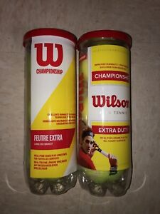 Wilson Championship Tennis Balls 3-Pack NEW X2