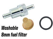 Billet aluminio 8 Mm lavable en línea de aleación Filtro de combustible carrera de carretera Rally