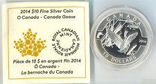 2014 Canada Goose  O Canada Proof $10 Silver Coin .9999 Fine No Tax