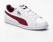 Puma Match Solid Sneaker Schuhe Leder Gr.42,5 Herren Damen weiß NEU Original