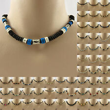 Bead Necklace Natural Beaded choker mens ladies womens boys girls jewellery