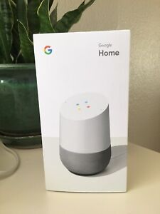 Google Home Hands-Free Personal Assistant White/Slate Fabric