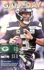 Seattle Seahawks VS Green Bay Packers Official GAMEDAY PROGRAM NOVEMBER 15 2018