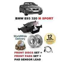 für BMW 3 E93 320 M Sport 07> Vorderbremse Scheibensatz+Bremsbelag Set+Sensor