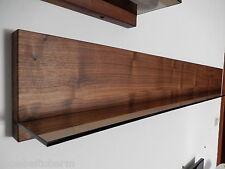 Wandboard Nussbaum Massiv Holz Board Regal Glasregal Regalbrett NEU au. auf Maß