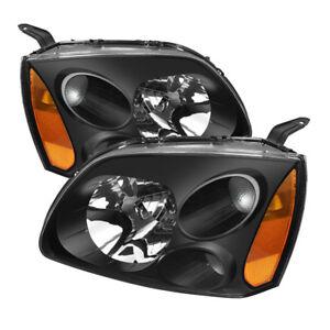 Mitsubishi 04-12 Galant Black Housing Replacement Headlights Left+Right Pair Set