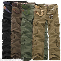2017 Army Men's casual Cargo Camo Combat Work Pants Military Long Trousers