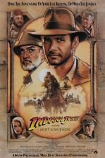Indiana Jones and the Last Crusade (1989) Harrison Ford movie poster 24x36 in.