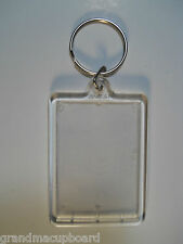 Clear Plastic Acrylic Photo Frame Key Chain 2 ½ X 1 5/8 Inch 63.5X4mm Ring ID