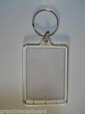 Clear Plastic Acrylic Photo Frame Key Chain 2 ½ X 1 5/8 Inch 63.5X4mm Ring ID