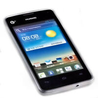 Silikon TPU Handy Cover Case Foggy für Huawei Ascend Y300 + Displayschutzfolie
