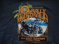 Harley-Davidson Motorcycles Australia 2006 Hog Rally Gray T Shirt Size M
