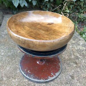 Vintage Hand Turned Wooden Fruit Trinket Table Bowl Wood Retro Patina Oak Treen