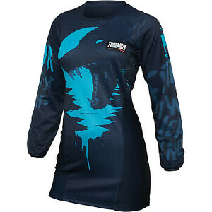 Thor 2022 Women's Pulse Counting Sheep Jersey Aqua All Sizes