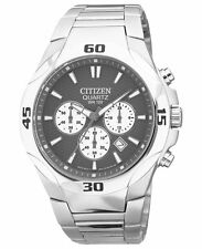 CITIZEN QUARTZ CHRONOGRAPH STAINLESS STEEL MEN'S WATCH AN8020-51H MADE IN JAPAN