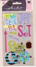 Stickopotamus Travel Stickers - Are We There Yet - Jet Set - Let's Go